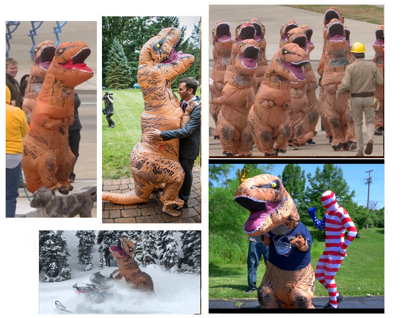 Party Adult t Dinosaur Costume Halloween Cosplay Fantasy Inflatable Dinosaur T Blowup Halloween Mascot Costume for Women (10)