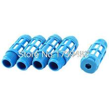 5 Pcs 1/4PT Plastic Pneumatic Valve Exhaust Noise Reducing Silencer Muffler Blue(China)