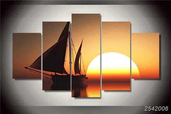 Hd gedrukt romantische emoties zee zonsondergang