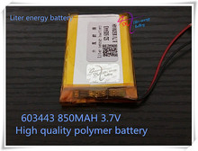 Free shipping Ultra- low-cost supply of lithium batteries GPS 60 * 34 * 43 (mm) 850 (mah) 3. 7 (V)