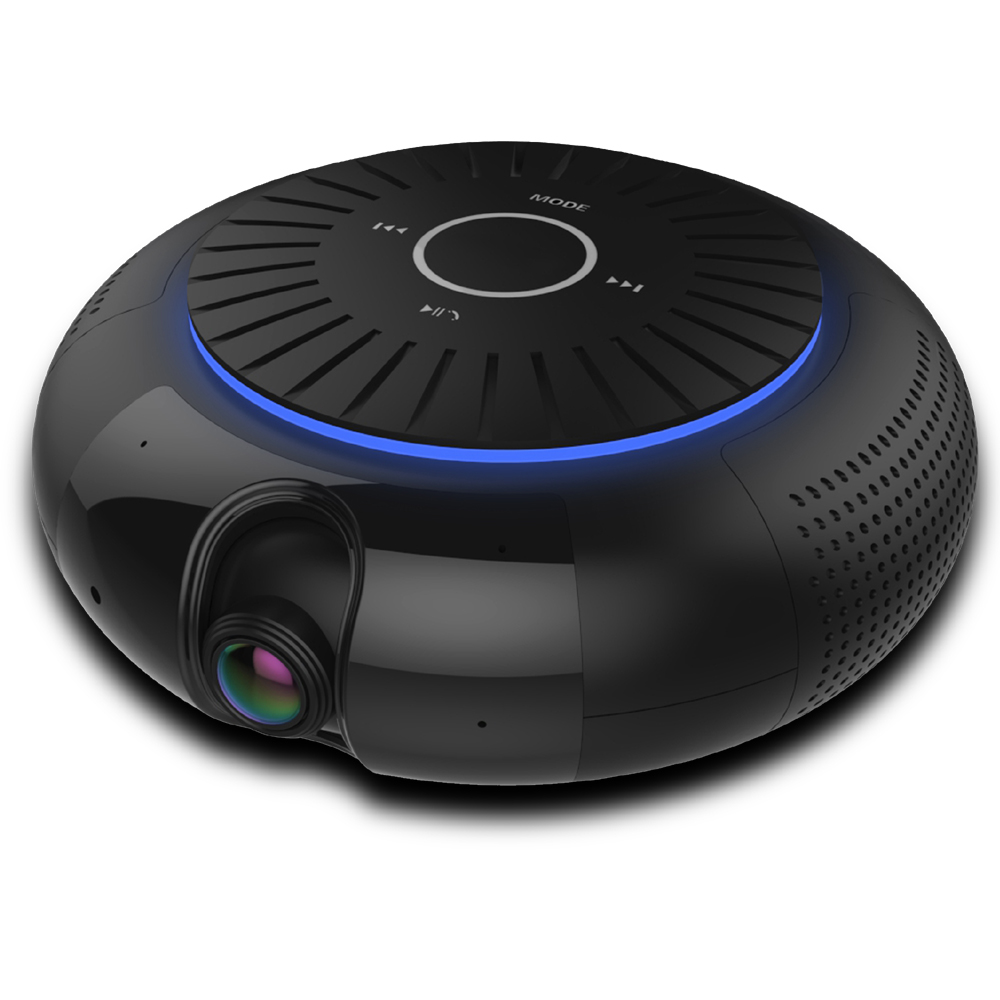 Panoramic 180 Degree 1080P HD Wifi IP Camera Built-in 5W Hifi System Bluetooth Speaker Internet Music byFree App Remote Control_1