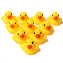 10 Pcs Creative Baby Kid Bath Time Duck Toys Yellow Soft Plastic Ducks Beach Toy Store 34