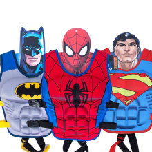 Kids Age 2-7 Superhero Life Jacket Vest Kids Superman Spiderman Batman kayak Jacket Swimming Floating Pool Swim Baby Vest S