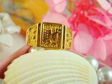 Wholesale New arrival fashion Jewelry vacuum plated 24K gold ring Men's ring ! Free Shipping JZ3927