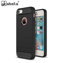 AKABEILA Phone Cover Case For Apple iPhone SE 6C iPhone 5 5S 5G 55S iPhone55s Cases Cover Carbon Fibre Brushed TPU