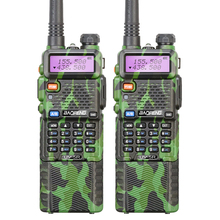 2PCS Camouflage BaoFeng UV-5R Long Battery Talkie Walkie Transceiver CB Radio Baofeng uv5r 5W VHF UHF Dual Band 2 Way Radio