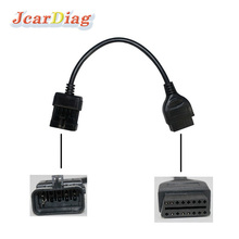 hot sale for Opel OBD1 10pin to OBD2 16pin cable for Opel diagnostic interface lead 10 pin to 16 pin OBDII(China)