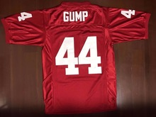 Forrest Gump #44 Football Jersey University of Alabama Tom Hanks Jersey Red All Stitched(China)