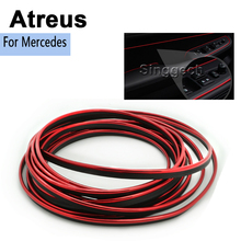 Atreus For Mercedes W211 W203 W204 W210 W205 W212 AMG Opel Astra H J G  3M Car Grille Mouldings Trim Strip Sticker Accessories