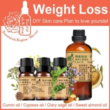 Free Shopping 100% Pure Plant Essential Oil Cumin / Cypress / Clary Sage /sweet Almond Oil Lose Weight, Balance Hormones