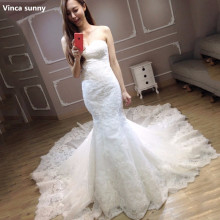 Buy Vinca sunny Vestido De Noiva Lace Appliques Wedding Dress Train Elegant Mermaid Wedding Dresses 2018 Bridal Dresses for $204.12 in AliExpress store