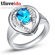 5% Off Engagement Ring Bling Top AAA Zircon Cubic Zirconia Wedding Ring 4 Colors 4 Sizes New Year Gifts Christmas Bijoux J430
