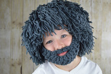 Wig Beard Hat- Halloween Costume- Any Color- Hobo- Mad Scientist- Rasta- Caveman- Boys Halloween Costume baby adult size