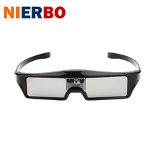 NIERBO Active 3D Glasses DLP-LINK 3.7V Li-CON USB Charge 3D Cinema Universal 3D Ready Projector Home theater 96-144Hz