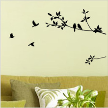Home decor Cheap new branch bird carved decorative DIY wall stickers livingroom bedroom accessories 5zcx108(China)
