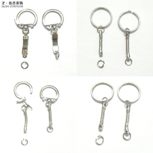 30PCs Silver Color Key Chains & Key Rings Keychain Basic Jewelry DIY Suppliers iron nickel plated accessories keyring keychain(China)