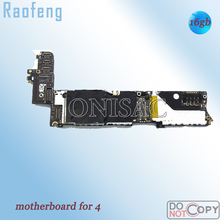 Raofeng Well test  16GB Unlocked motherboard For Iphone 4 4g Disassembled  Mainboard  high quality With Chips logic board