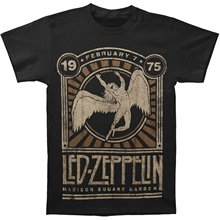 Printed T-Shirt Men'S Short Sleeve O-Neck T-Shirts Summer Stree Twear Led Zeppelin '75 Madison Square Garden Adult T-shirt