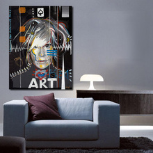 QCART Andy Warhol Painting Celebrity Culture And Advertisement That Flourished Wall Art Canvas Paintings For Living Room(China)
