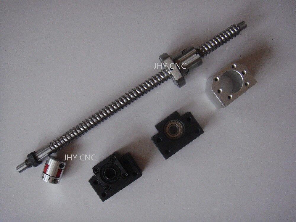 1 antibacklash ball screw 1605 -L350mm-C7+BK/BF12 + 1pc 6.35mm*10mm couplings<br>