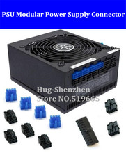 11pcs/lot PSU Modular Power Supply 24Pin 8pin  6pin plastic shell Connector for SilverStone 750W/850W/1000W
