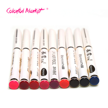 2017 New Arrival Best Sale Professional Lovely 9Pcs/Set Beauty Long Lasting Lipliner Lips Makeup Tools