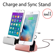Original Quality Fast Charging Charger Dock Station For iPhone X Desktop Cradle Stand For iPhone 5 6 6S 7 8 Plus(China)