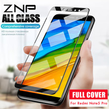 ZNP Full Cover Screen Protective Glass Xiaomi Redmi Note 5 Pro Global Version Tempered Glass Redmi Note 5 Pro Glass Film