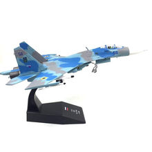 kids toys 1/100 Sukhoi Su-27 Flanker Heavy Fighter Air Force Diecast Aircraft Plane model Toy new year gift for boy(China)
