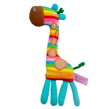 1PC Cute Plush Giraffe Toys Soft Colorful Animal Dear Doll Kawaii Spot Toy For Baby Kids Children Girls Birthday Gift(China)
