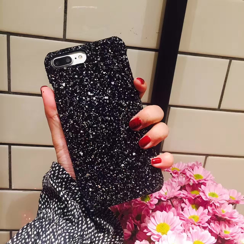 For iPhone Luxury Bling Glitter Shining Flash Powder case