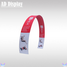 600cm Width 400cm Height Size Round Arch Aluminum Display Stand With Tension Fabric Banner Printing