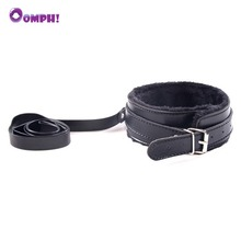 Buy Oomph! PU Leather BDSM Sex Collar Plush Neck Collar Erotic Bondage Restraint Fetish Slave Game Sex Toys Couples