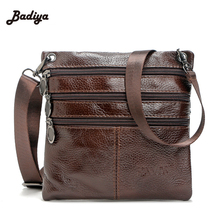 Vintage Men Small Genuine Leather Cross Body Bags Simple Solid Shoulder Bag For Man Real Leather Male Messenger Bag