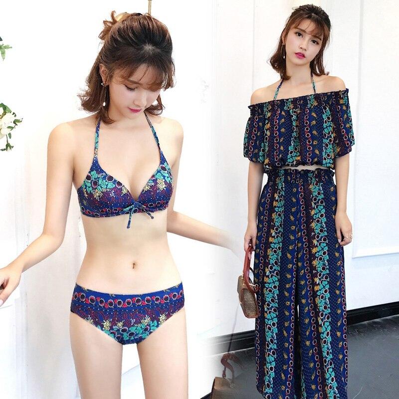 Bikinis Swimwear Women 2018 New Summer Sexy Swimsuit Pant Bath Suit Bikini Striped Biquini Bikini Set Beach Bathing Suit<br>