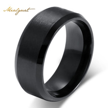 Meaeguet Fashion Simple Ring For Men 316L Stainless Steel Jewelry Wholesale Wedding Rings For Women 3 Colors