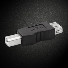 Mini Black USB Type A Female to USB Type B Male Converter Connector Adapter