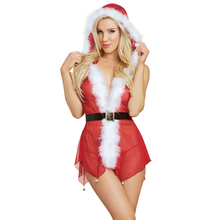 Buy Porn Lingerie Sexy 2017 Hot Erotic Costumes Christmas Cosplay Babydoll Fantasias Sexy Erotic Lingerie Women Underwear Role Play