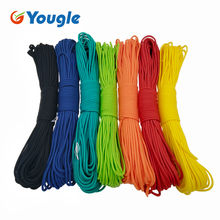 YOUGLE 50-100 Feet 550 Paracord Parachute Cord Lanyard Mil Spec Type III 7 Strand Core Camping hiking emergency survival Cord(China)