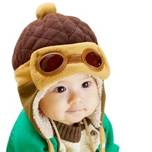 Toddlers Cool Baby Boy Girl Kids Infant Winter Pilot Warm Cap Bomber Hat(China)
