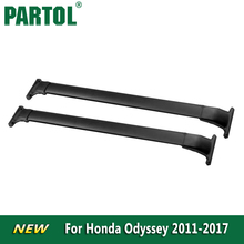 Partol Black Car Roof Rack Cross Bars Roof Luggage Carrier Roof Rail For Honda Odyssey 2011 2012 2013 2014 2015 2016 2017 132LBS(China)