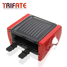 Mini Red 650W Double Layers Smokeless Electric Pan Grill BBQ Grill Raclette Grill Electric Griddle