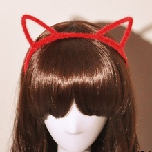 Faux Fur Cat Ears Headband Hairbands Fine Hair Head Band Hairstyle Decor Furry Hoop Headwear Hair Accessories(China)