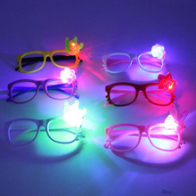 Christmas Fun Lighting Cartoon Glasses Kids Toys Birthday Party Favor Halloween Cosplay Props Dress Party Supplies Eye Mask