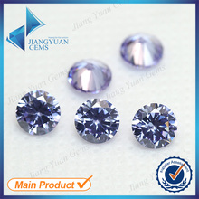 50pcs 5A 0.8-6.0mm Lavander Color Loose Cubic Zirconia CZ Stone Round Shape European Machine Cut Synthetic Gemstone