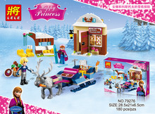 Anna & Kristoff's Sleigh Adventure Princess Series Building Block Figure Girls Toy 41066 Compatible With Lego(China)