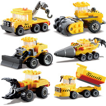 Kazi Engineering Truck Car Building Blocks Bricks Construction Enlighten compatible with legoed Toys For Children Birhthday Gift