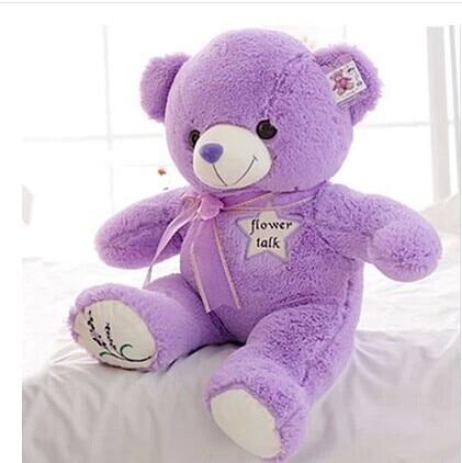 stuffed animal 45cm lavender teddy bear plush toy lovely bear doll  throw pillow gift w3338<br><br>Aliexpress