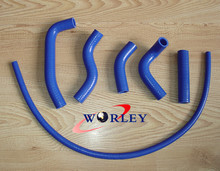 For KAWASAKI KX500 KX 500 KX500 89-04 90 91 92 93 94 95 96 97 1998 99 01 02 03 2004 Silicone Radiator Hose Kit BLUE(China)