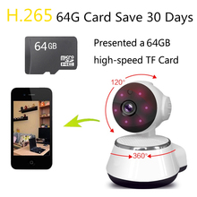 Gift 64G V380 IP Cam Wifi Camera HD 720P Smart Home Wireless Video Surveillance Security Camera Network Rotatable CCTV iOS(China)